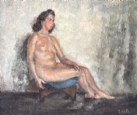 FEMALE NUDE STUDY by Lydia de Burgh RUA UWS at Ross's Auctions
