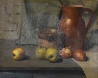 STILL LIFE, FRUIT & JUGS by Edward McGuire at Ross's Auctions