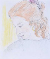 GIRL WITH RED HAIR by Tom Carr HRHA RUA RWS at Ross's Auctions