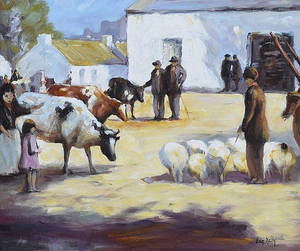 FAIR DAY by Liam Kelly at Ross's Online Art Auctions
