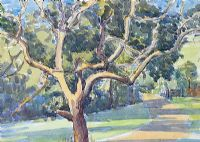 TREE BY THE PATH by Lamorna Kerr at Ross's Auctions