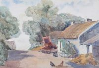 CHICKENS FEEDING by Nora Coulton at Ross's Auctions