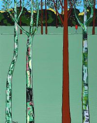 BIRCH TREES & FIGURE by Eddie Mallon at Ross's Auctions