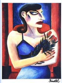 GIRL WITH ROSES by Graham Knuttel at Ross's Auctions
