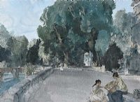 GIRLS BY THE RIVER by Sir William Russell Flint RA at Ross's Auctions