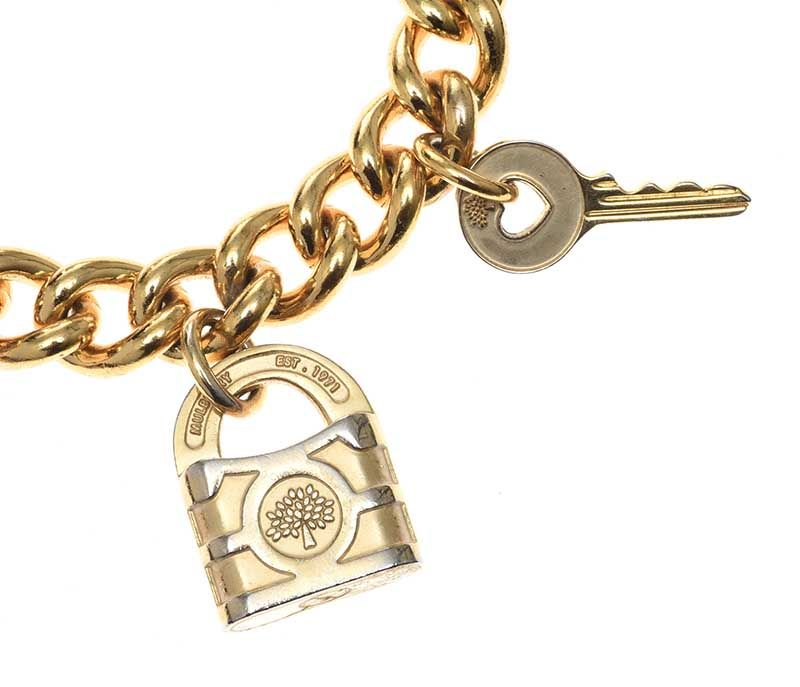 MULBERRY GOLD-TONE CHARM BRACELET at Ross's Online Art Auctions