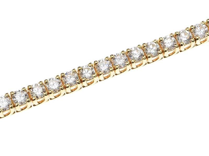 18CT GOLD DIAMOND TENNIS BRACELET at Ross's Online Art Auctions