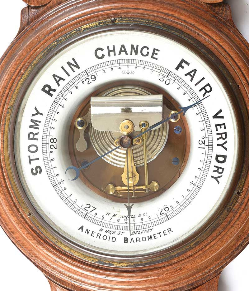 VICTORIAN OAK BAROMETER at Ross's Online Art Auctions