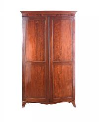 EDWARDIAN MAHOGANY TWO DOOR WARDROBE