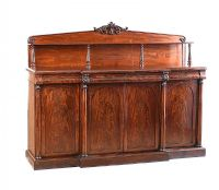 WILLIAM IV FOUR DOOR SIDE CABINET