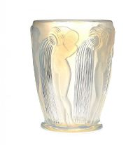RENE LALIQUE DANAIDES GLASS VASE