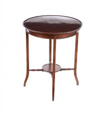 CIRCULAR MAHOGANY OCCASIONAL TABLE at Ross's Auctions