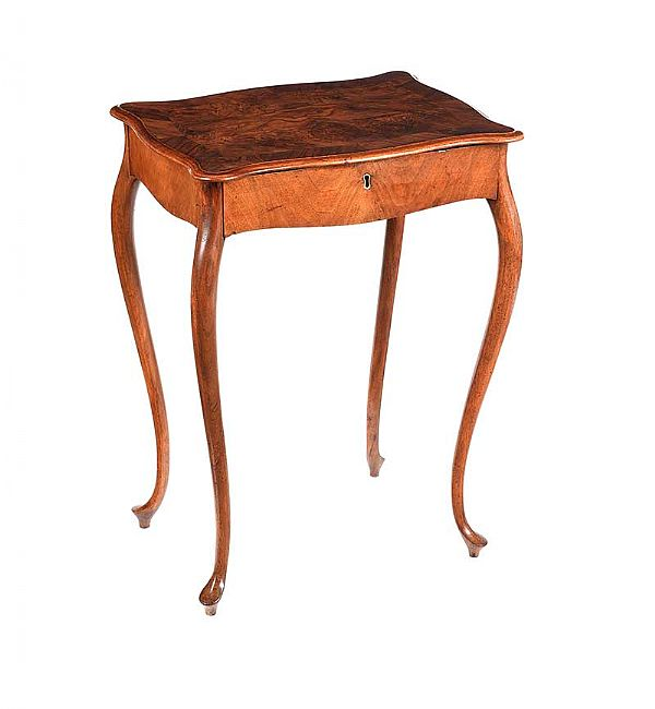 BURR WALNUT OCCASIONAL TABLE at Ross's Online Art Auctions