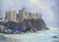 DUNLUCE CASTLE, COUNTY ANTRIM by George K. Gillespie at Ross's Auctions