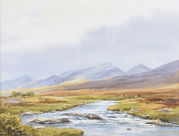 SHEEP GRAZING, DONEGAL by Robert Egginton at Ross's Online Art Auctions