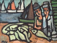 GALWAY FISHERMEN by Markey Robinson at Ross's Auctions