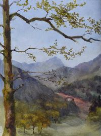 NEAR BEDDGELERT, WALES by Coralie de Burgh at Ross's Auctions
