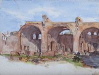 BASILICA OF CONSTANTINE ROMAN FORUM, ROME, ITALY by Coralie de Burgh at Ross's Auctions