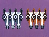 SIX HORSES by Charles N. Fox at Ross's Auctions
