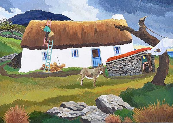 RUNNING REPAIRS, DONEGAL by James Macintyre RUA at Ross's Online Art Auctions