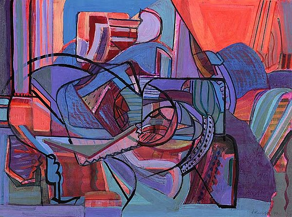 ABSTRACT by Nevill Johnson RUA at Ross's Online Art Auctions
