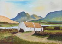 IRISH THATCHED COTTAGE by J. Dixon at Ross's Auctions
