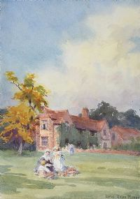 THE PICNIC AT LUCAS GREEN MANOR by Coralie de Burgh Kinahan at Ross's Auctions