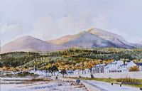 THE MOUNTAINS OF MOURNE & NEWCASTLE PROMENADE by Beth Cheney at Ross's Auctions