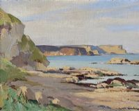 EARLY MORNING, MURLOUGH BAY TOWARDS WHITEPARK BAY, COUNTY ANTRIM by Maurice Canning  Wilks ARHA RUA at Ross's Auctions