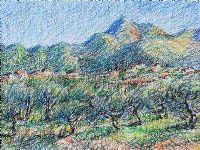 GAPE VINES, ITALY by Coralie de Burgh Kinahan at Ross's Auctions