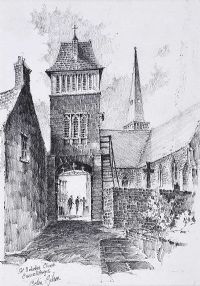SAINT NICHOLAS CHURCH, CARRICKFERGUS by Colin Gibson at Ross's Auctions