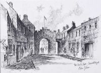 THE NORTH GATE, CARRICKFERGUS by Colin Gibson at Ross's Auctions