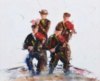 THE SESSION, MUSICAL QUARTET by Darren Paul at Ross's Auctions
