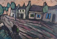 EVENING IN THE VILLAGE by Markey Robinson at Ross's Auctions
