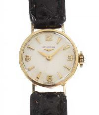 LONGINES 9CT GOLD-CASED WRIST WATCH at Ross's Jewellery Auctions