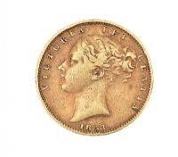 1853 GOLD FULL SOVEREIGN at Ross's Auctions