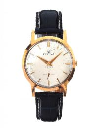 FESTINA 18CT GOLD-CASED GENT'S WRIST WATCH at Ross's Jewellery Auctions