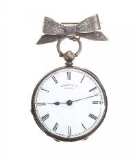 STERLING SILVER POCKET WATCH AND PIN at Ross's Jewellery Auctions