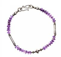 SILVER AND AMETHYST BRACELET at Ross's Jewellery Auctions