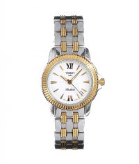 TISSOT 'BALLADE' GOLD-PLATED STAINLESS STEEL LADY'S WRIST WATCH at Ross's Jewellery Auctions