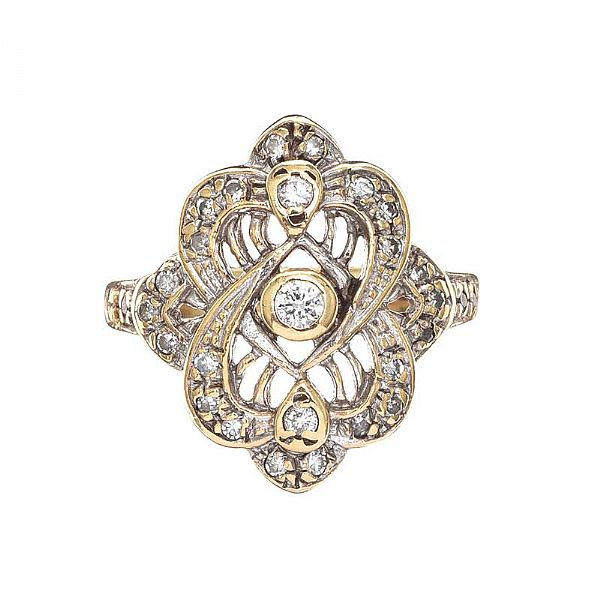 9CT GOLD DIAMOND RING at Ross's Online Art Auctions