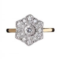 JENNY PACKHAM FOR GOLDSMITHS 18CT GOLD DIAMOND FLORAL RING at Ross's Auctions