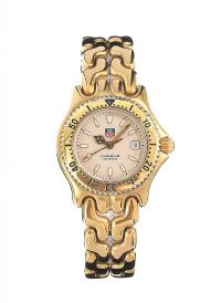 TAG HEUER GOLD-PLATED STAINLESS STEEL LADY'S WRIST WATCH at Ross's Jewellery Auctions