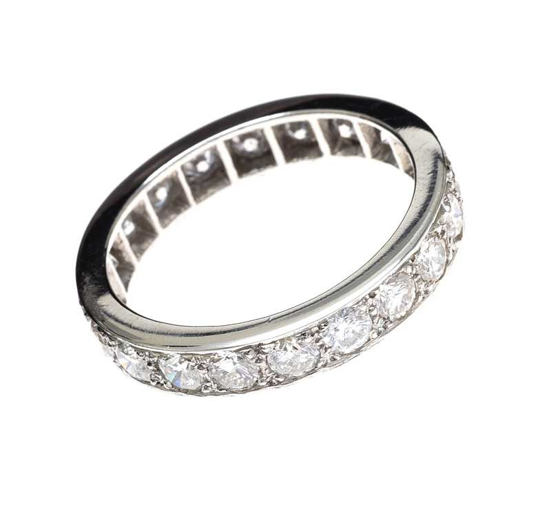 PLATINUM DIAMOND FULL-ETERNITY RING at Ross's Online Art Auctions