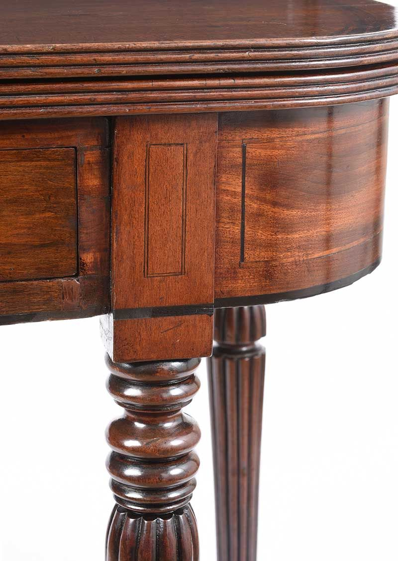 REGENCY TURN OVER LEAF TEA TABLE at Ross's Online Art Auctions