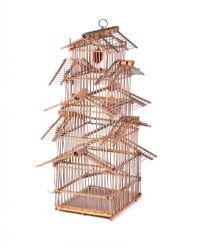 WOODEN BIRD CAGE at Ross's Online Art Auctions