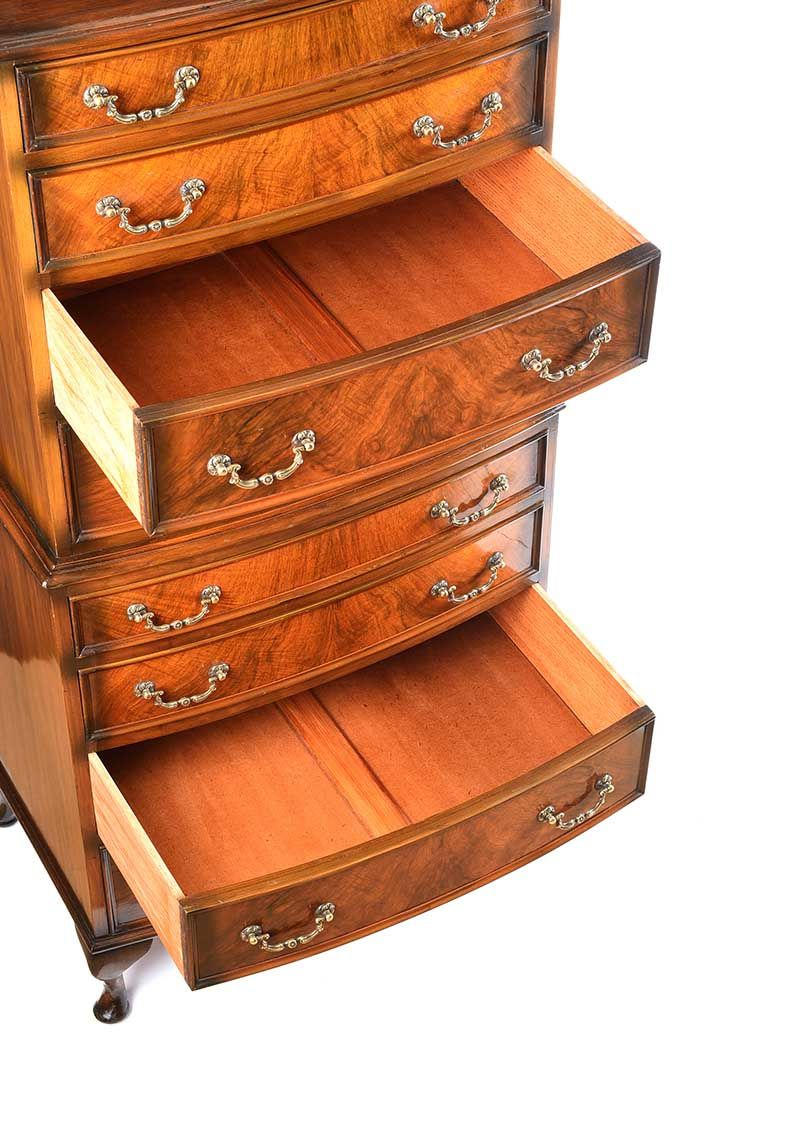 WALNUT CHEST ON CHEST at Ross's Online Art Auctions