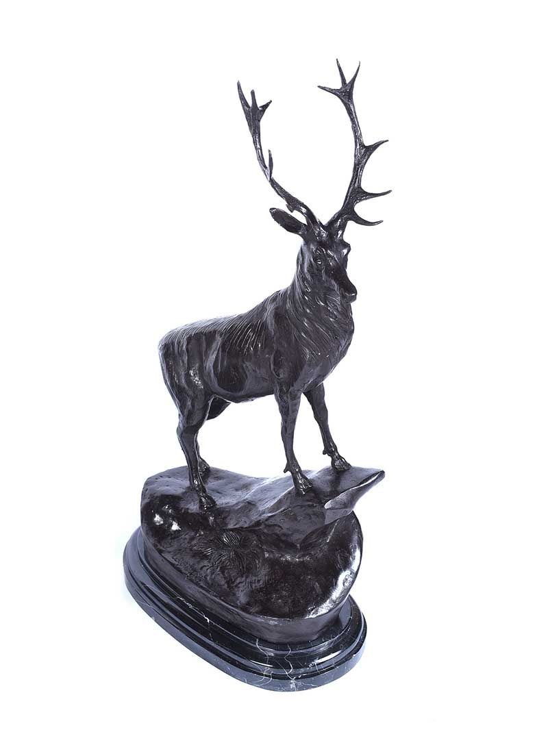 PAIR OF BRONZE STAGS at Ross's Online Art Auctions