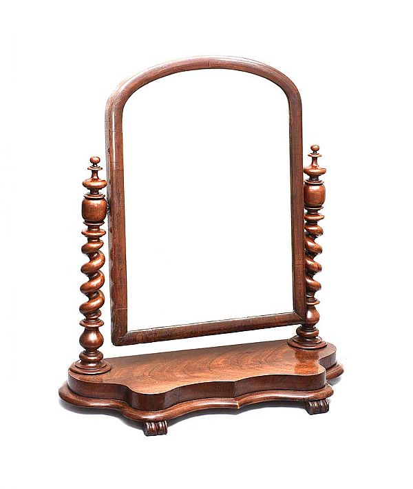 VICTORIAN MAHOGANY DRESSING TABLE MIRROR at Ross's Online Art Auctions