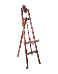 CARVED MAHOGANY EASEL at Ross's Online Art Auctions